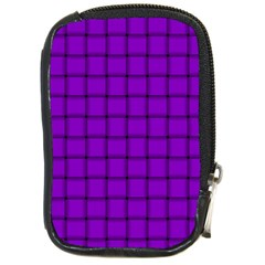 Dark Violet Weave Compact Camera Leather Case