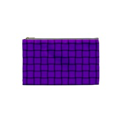 Dark Violet Weave Cosmetic Bag (Small)