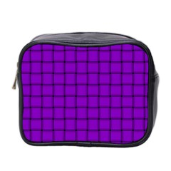 Dark Violet Weave Mini Travel Toiletry Bag (Two Sides)