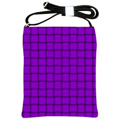 Dark Violet Weave Shoulder Sling Bag
