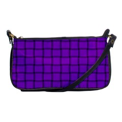 Dark Violet Weave Evening Bag