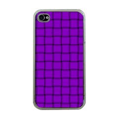 Dark Violet Weave Apple iPhone 4 Case (Clear)