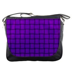 Dark Violet Weave Messenger Bag