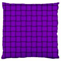 Dark Violet Weave Large Cushion Case (one Side)