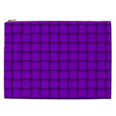 Dark Violet Weave Cosmetic Bag (xxl)