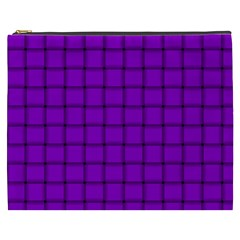 Dark Violet Weave Cosmetic Bag (xxxl)