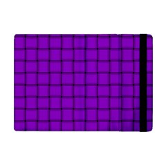 Dark Violet Weave Apple Ipad Mini Flip Case