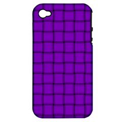 Dark Violet Weave Apple Iphone 4/4s Hardshell Case (pc+silicone)