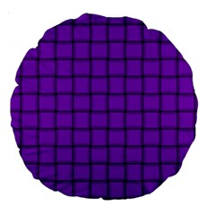 Dark Violet Weave 18  Premium Round Cushion