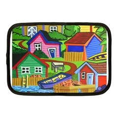 Three Boats & A Fish Table Netbook Case (Medium)