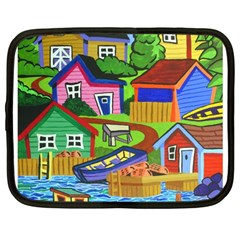 Three Boats & A Fish Table Netbook Case (Large)