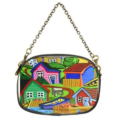 Three Boats & A Fish Table Chain Purse (One Side)