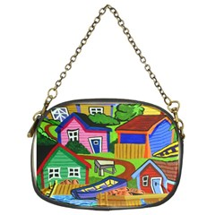 Three Boats & A Fish Table Chain Purse (Two Side)