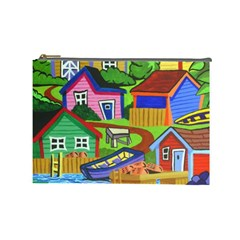 Three Boats & A Fish Table Cosmetic Bag (Large)