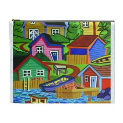 Three Boats & A Fish Table Cosmetic Bag (xl)