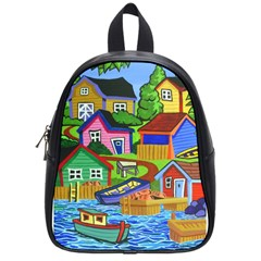 Three Boats & A Fish Table School Bag (Small)