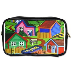 Three Boats & A Fish Table Travel Toiletry Bag (One Side)