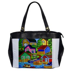 Three Boats & A Fish Table Oversize Office Handbag (One Side)