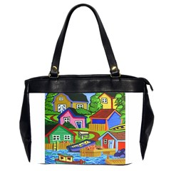 Three Boats & A Fish Table Oversize Office Handbag (Two Sides)