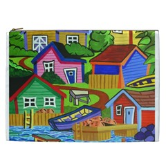 Three Boats & A Fish Table Cosmetic Bag (XXL)