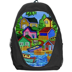 Three Boats & A Fish Table Backpack Bag