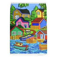 Three Boats & A Fish Table Removable Flap Cover (Large)