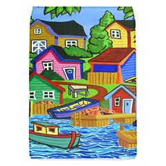 Three Boats & A Fish Table Removable Flap Cover (Small)
