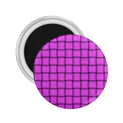 Ultra Pink Weave  2.25  Button Magnet