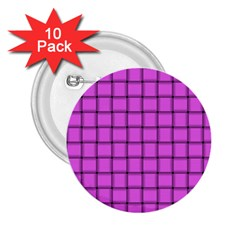 Ultra Pink Weave  2.25  Button (10 pack)