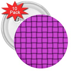 Ultra Pink Weave  3  Button (10 pack)