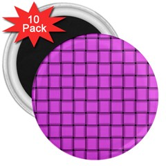 Ultra Pink Weave  3  Button Magnet (10 pack)