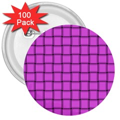 Ultra Pink Weave  3  Button (100 pack)