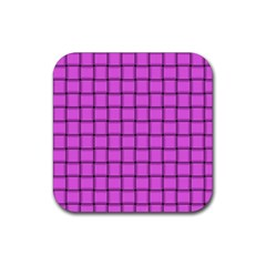 Ultra Pink Weave  Drink Coaster (Square)