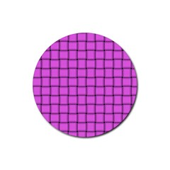 Ultra Pink Weave  Drink Coasters 4 Pack (Round)