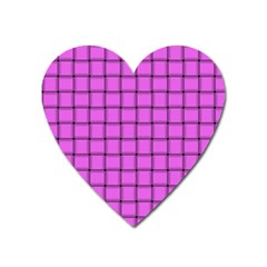 Ultra Pink Weave  Magnet (Heart)