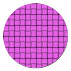 Ultra Pink Weave  Magnet 5  (round)