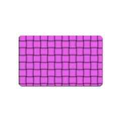 Ultra Pink Weave  Magnet (Name Card)