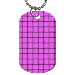 Ultra Pink Weave  Dog Tag (One Sided)
