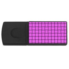 Ultra Pink Weave  1GB USB Flash Drive (Rectangle)