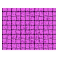 Ultra Pink Weave  Jigsaw Puzzle (Rectangle)