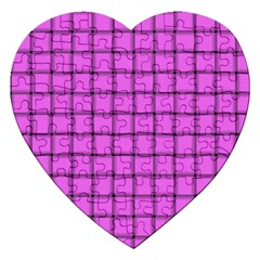Ultra Pink Weave  Jigsaw Puzzle (Heart)