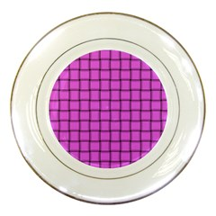 Ultra Pink Weave  Porcelain Display Plate