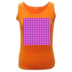 Ultra Pink Weave  Womens  Tank Top (dark Colored)