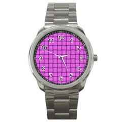 Ultra Pink Weave  Sport Metal Watch