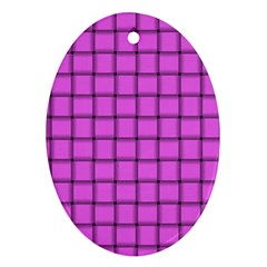 Ultra Pink Weave  Oval Ornament (Two Sides)