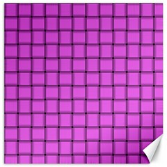 Ultra Pink Weave  Canvas 12  x 12  (Unframed)