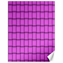 Ultra Pink Weave  Canvas 12  x 16  (Unframed)