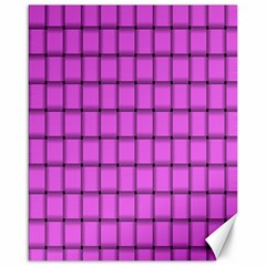 Ultra Pink Weave  Canvas 16  x 20  (Unframed)
