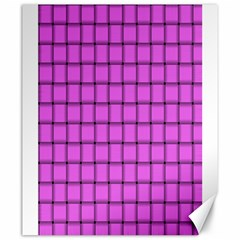 Ultra Pink Weave  Canvas 20  x 24  (Unframed)