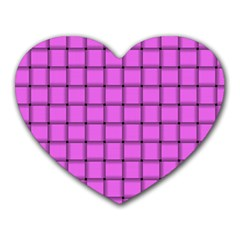 Ultra Pink Weave  Mouse Pad (Heart)